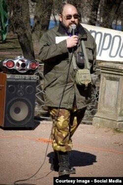 Андрей Тимесков на митинге 1 мая 2015 года