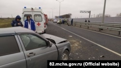 Авария на трассе «Таврида», Крым, архивное фото
