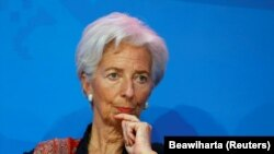 International Monetary Fund chief Christine Lagarde (file photo)