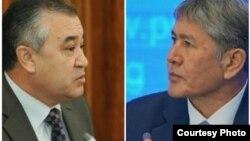 Өмүрбек Текебаев менен Алмазбек Атамбаев.