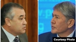 Omurbek Tekebaev (left) and Almazbek Atambaev were allies until the summer of 2016.