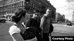 """Арт-группа """"Война"""": Коза, Леонид Николаев, Олег Воротников"""