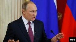 Vladimir Putin gjatë konferencës së sotme për gazetarë në Moskë