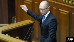 Арсеній Яценюк на вчорашньому засіданні парламенту, 24 липня 2014 року