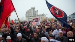 Pamje nga protesta e opozitës në Kosovë, më 28.11.2015