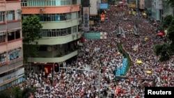 Демонстрация в Гонконге, 9 июня 2019 г.