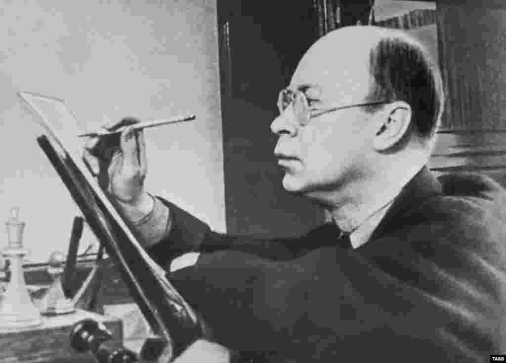"In 1948, Prokofiev's modernist work fell afoul of Stalin's regime. The head of the Union of Composers denounced him as ""formalist"" and ""bourgeois"" and public performances of his compositions were banned for two years. His wife, Lina, from whom he was separated, was arrested and sent to a labor camp."