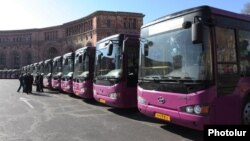 Armenia - New public buses in Yerevan donated by the Chinese government, 24Mar2012.