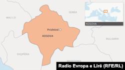 Harta e Kosovës, foto nga arkivi.
