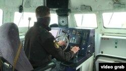 На борту МБАК «Вышгород» во время выхода в Азовское море, 22 апреля 2021 года