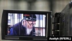 Правозащитник Азимжан Аскаров на заседании суда в Бишкеке. 10 января 2017 года.