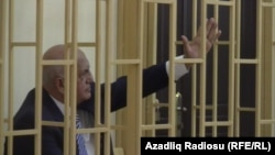 Former Azerbaijani Minister of Health Ali Insanov during his retrial in Baku last month.
