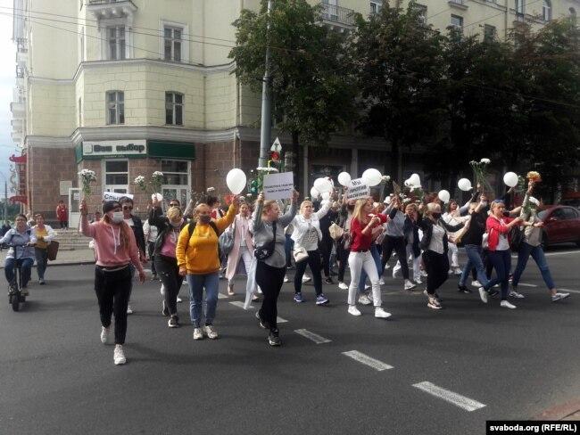 Ein separater Marsch in der Stadt selbst