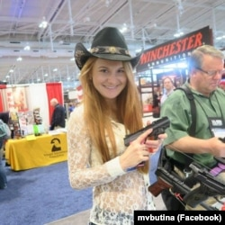 Butina's comments on gun rights caught the attention of fellow enthusiasts in the United States.