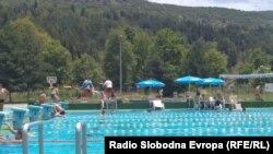 Отворен базен во Охрид.