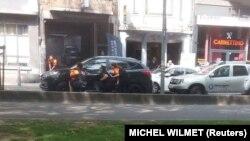 Полиция на месте нападения в Льеже
