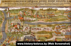 Kартинa «Осада Полоцька в 1579 році військами Стефана Баторія в Лівонській війні»