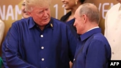 Дональд Трамп жана Владимир Путин.