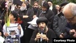 مصريون أقباط في إحتجاج ببريطانيا