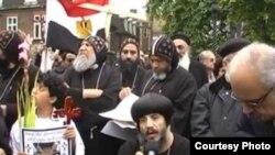 تظاهرة لمسيحيين أقباط مصريين في لندن