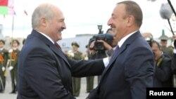 Аляксандар Лукашэнка і Ільхам Аліеў, архіўнае фота