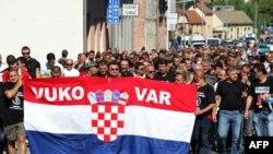 Sa prosvjeda protiv ćirilice u Vukovaru, rujan 2013.