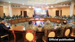 "Armenia -- Senior Armenian and Russian military officials start ""staff negotiations"" in Yerevan, January 25, 2021."
