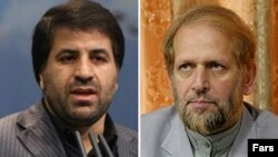 محمدعلی رامین (راست) معاون مطبوعاتی سابق و محمدجعفر محمدزاده، معاون مطبوعاتی جدید وزارت ارشاد