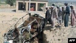 بازمانده های خودرویی که صبح روز شنبه منفجر شد.