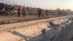 Что происходит на месте крушения украинского «Боинга» в Тегеране (видео)