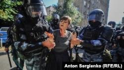 La mitingul opoziției din 27 iulie 2019, Moscova