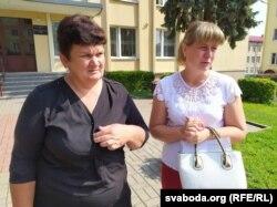 Сьвятлана Даўгуненка (справа) і яе суседка