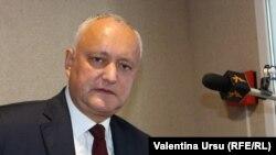 Moldova - președintele Igor Dodon, candidat independent susținut de PSRM, în alegerile prezidențiale din noiembrie - Chișinău, 19 octombrie 2020