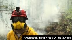 Лестной пожар в Якутии в августе 2021 года