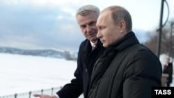 Сергей Носов и Владимир Путин, архивное фото