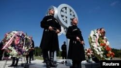 Monumentul militarilor georgieni uciși în conflictul dintre Georgia și Rusia din 2008.