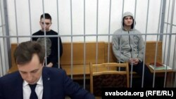 Анархісты Іван Комар і Мікіта Емяльянаў у судзе