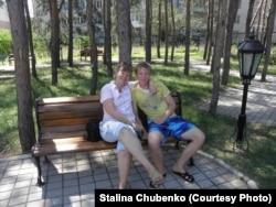 Степан Чубенко с мамой Сталиной