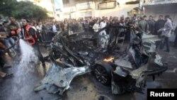 تصویری از انفجارهای قبلی در غزه