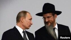 Путин и верховный раввин России Берл Лазар