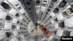 На заводе немецкого автопроизводителя Volkswagen.