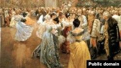 """""""Придворный бал в Вене"""". Вильгельм Гаузе, 1900 год"""