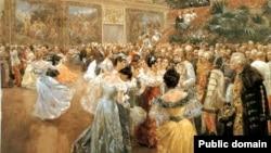 """""""Импeраторский бал в Вене"""". Картина Вильгельма Гаузе (1900)"""