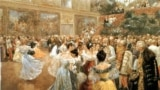 Bal la Palatul imperial Hofburg din Viena, tablou de Wilhelm Gause (1900).