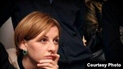 """Украиналық """"Громадське ТВ"""" телеарнасының журналисі Анастасия Станко."""