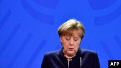Cancelarul Angela Merkel la conferința de presă de astăzi la Berlin