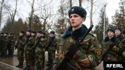 Зьміцер Хведарук падчас прысягі, 7 лютага 2009 году