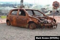 Пассажирский автомобиль, попавший под обстрел. Музей АТО в Днепре