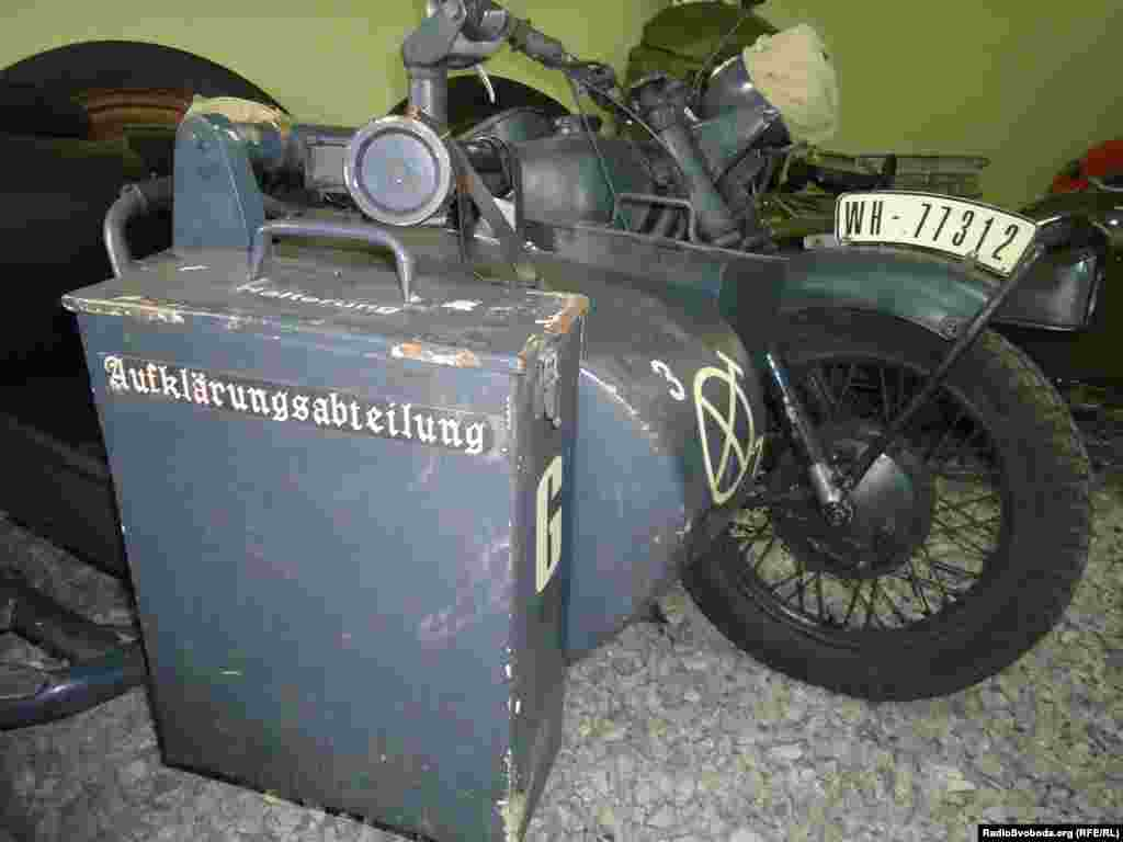 A World War II-era German BMW R12 motorcycle