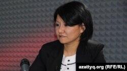 Толганай Умбеталиева, политолог. Алматы, 5 октября 2015 года.